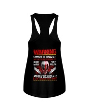 Warning Concrete Finishe with a strong personality Ladies Flowy Tank thumbnail