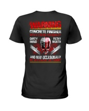 Warning Concrete Finishe with a strong personality Ladies T-Shirt thumbnail