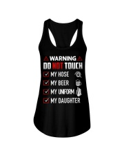Warning Do Not Touch - My Firefighter Ladies Flowy Tank thumbnail