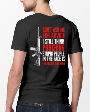 Veteran Don't Ask Me For Advice Punching Is Right Classic T-Shirt lifestyle-mens-crewneck-back-5