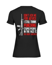Veteran Don't Ask Me For Advice Punching Is Right Premium Fit Ladies Tee thumbnail