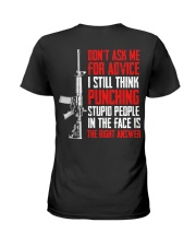 Veteran Don't Ask Me For Advice Punching Is Right Ladies T-Shirt thumbnail