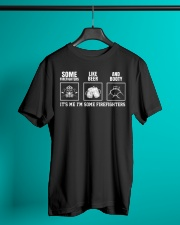 Some Firefighters Like Beer Classic T-Shirt lifestyle-mens-crewneck-front-3