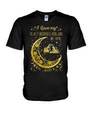 I Love My Operator To Ther Moon And Back  V-Neck T-Shirt thumbnail