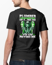Plumber You Are Paying Me Classic T-Shirt lifestyle-mens-crewneck-back-5