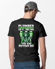 Plumber You Are Paying Me Classic T-Shirt lifestyle-mens-crewneck-back-6