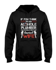 If  You Think I'm An Asshole Plumber Hooded Sweatshirt thumbnail