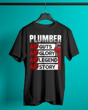 Plumber No Guts No Glory No Legend Classic T-Shirt lifestyle-mens-crewneck-front-3