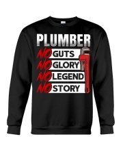 Plumber No Guts No Glory No Legend Crewneck Sweatshirt thumbnail