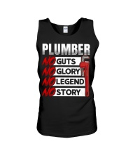 Plumber No Guts No Glory No Legend Unisex Tank thumbnail