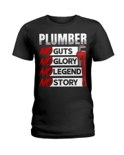 Plumber No Guts No Glory No Legend Ladies T-Shirt thumbnail