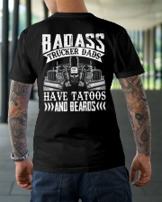 Badass Trucker Dads Have Tatoos And Beards Classic T-Shirt lifestyle-mens-crewneck-back-3