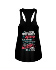 To My Diesel Firefighter I Love You Ladies Flowy Tank thumbnail