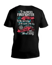 To My Diesel Firefighter I Love You V-Neck T-Shirt thumbnail