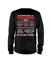 You know you're a teacher when Long Sleeve Tee thumbnail