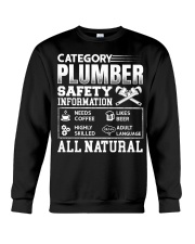 Category Plumber Safety Information Needs Coffee L Crewneck Sweatshirt thumbnail