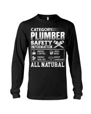 Category Plumber Safety Information Needs Coffee L Long Sleeve Tee thumbnail