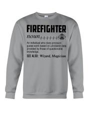 Firefighter Noun Crewneck Sweatshirt thumbnail