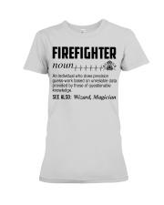 Firefighter Noun Premium Fit Ladies Tee thumbnail