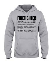 Firefighter Noun Hooded Sweatshirt thumbnail