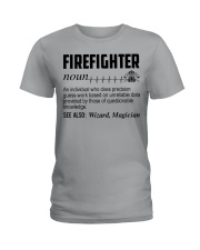 Firefighter Noun Ladies T-Shirt thumbnail