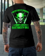With Great Power Comes Great Electricity Bill Classic T-Shirt lifestyle-mens-crewneck-back-3