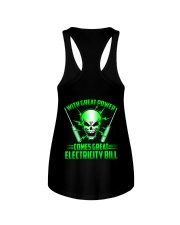 With Great Power Comes Great Electricity Bill Ladies Flowy Tank thumbnail