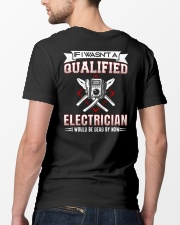 Electrician Not Qualified Dead For Now Classic T-Shirt lifestyle-mens-crewneck-back-5