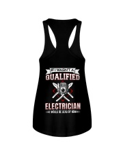 Electrician Not Qualified Dead For Now Ladies Flowy Tank thumbnail