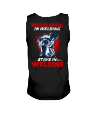 Welder Stay In Welding Unisex Tank tile