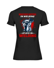 Welder Stay In Welding Premium Fit Ladies Tee tile