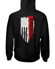 Men's Thin Red Line American Flag Shirt Hooded Sweatshirt thumbnail