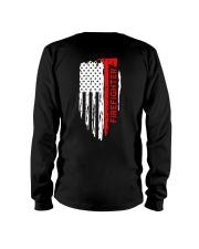 Men's Thin Red Line American Flag Shirt Long Sleeve Tee thumbnail