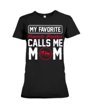 My Favorite Concrete Finisher Calls Me Mom Premium Fit Ladies Tee tile
