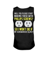 Electrician Phillips Screws Unisex Tank thumbnail