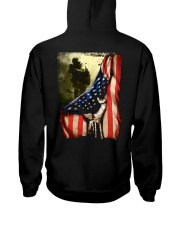 Veteran Flag Hooded Sweatshirt back