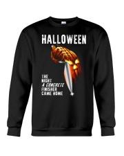 Halloween The Night A Concrete Crewneck Sweatshirt thumbnail