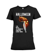 Halloween The Night A Concrete Premium Fit Ladies Tee thumbnail