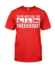 So Ready  For The Weekend Concrete Finisher Premium Fit Mens Tee tile