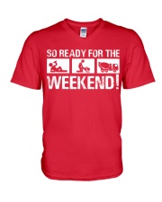 So Ready  For The Weekend Concrete Finisher V-Neck T-Shirt thumbnail