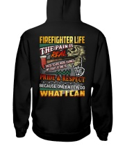 Firefighter Life The Pain Is Real Hooded Sweatshirt thumbnail