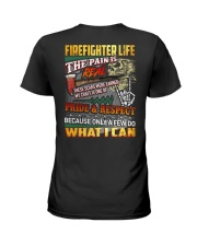 Firefighter Life The Pain Is Real Ladies T-Shirt thumbnail