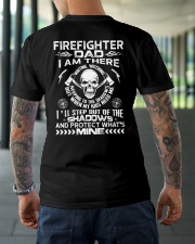 Firefighter Dad I Am There Waiting Watching Classic T-Shirt lifestyle-mens-crewneck-back-3