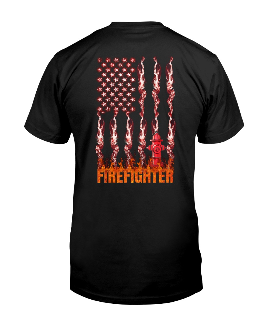 American Flag Firefighter Classic T-Shirt