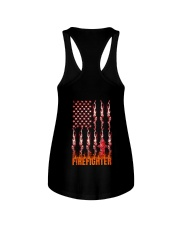 American Flag Firefighter Ladies Flowy Tank thumbnail