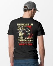 Electrician's Life The Pain is Real Classic T-Shirt lifestyle-mens-crewneck-back-6