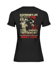 Electrician's Life The Pain is Real Premium Fit Ladies Tee thumbnail