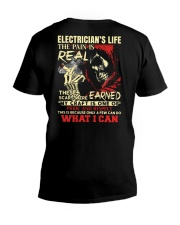Electrician's Life The Pain is Real V-Neck T-Shirt thumbnail
