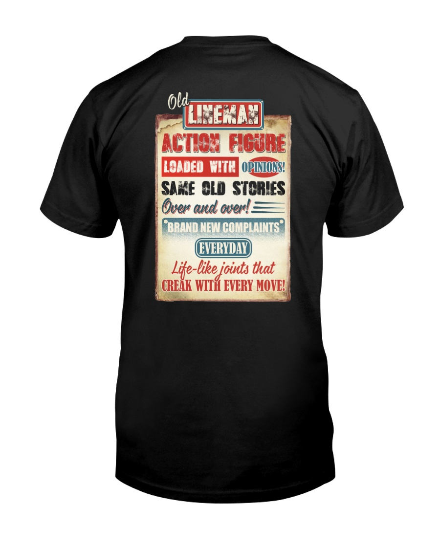 Old Lineman Action Figure Classic T-Shirt