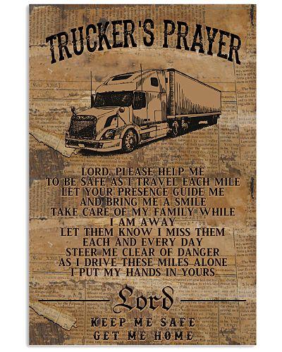 Trucker's Prayer Poster